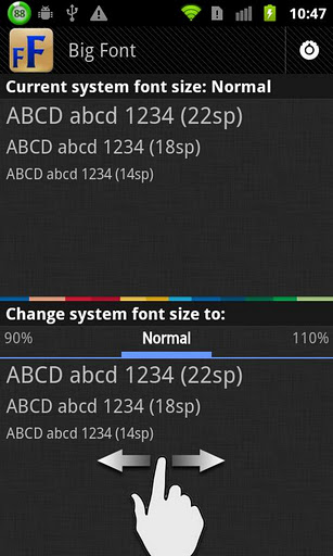 Big Font (change font size) for Android