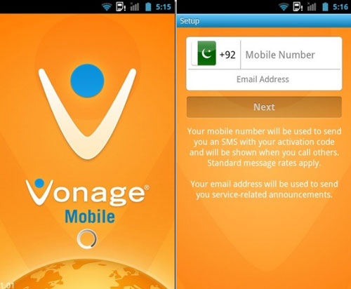 Vonage Mobile for Android