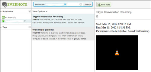 Callnote for Skype