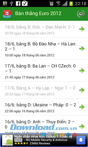 Bàn Thắng Euro 2012 for Android