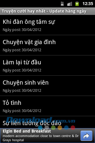 Truyen cuoi hay nhat for Android