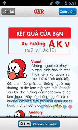 Trac nghiem VAK for Android