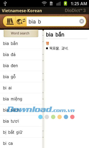 Vietnamese - Korean Dictionary for Android