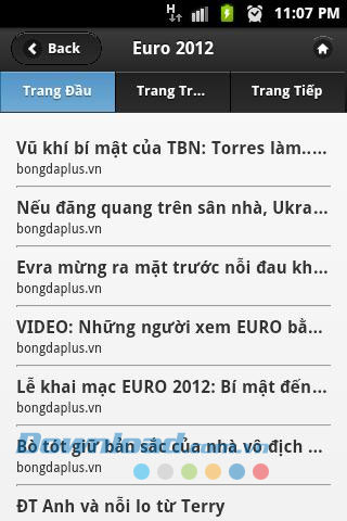 Euro 2012 siêu tốc for Android