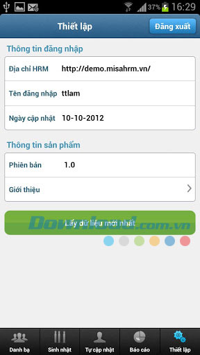 MISA HRM for Android