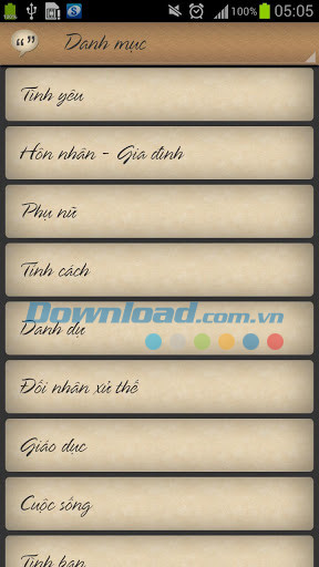 Danh ngon cuoc song for Android