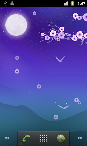Blooming Night Live Wallpaper for Android