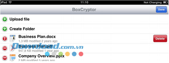 BoxCryptor for iOS