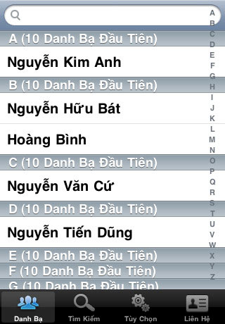 Vietnam Contacts Plus for iOS