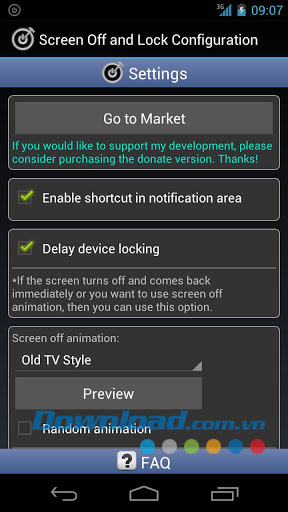 Screen Off and Lock for Android