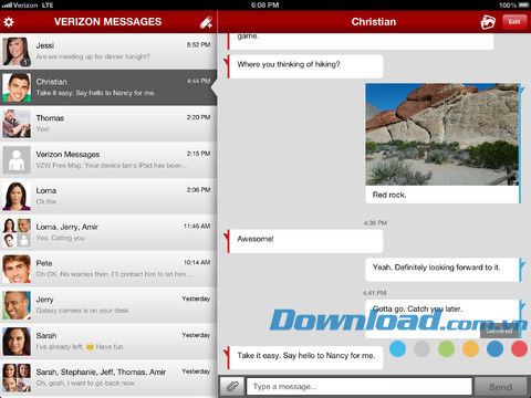 Verizon Messages for iPad