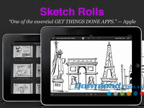 Sketch Rolls Free for iPad