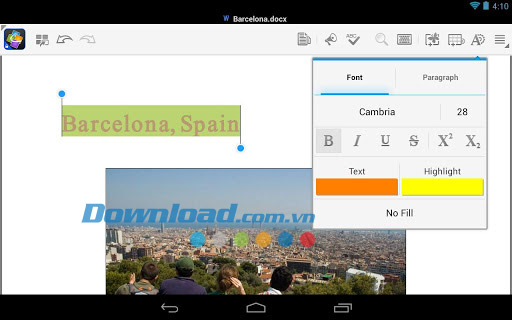 Quickoffice for Android