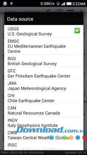 Earthquakes for Android