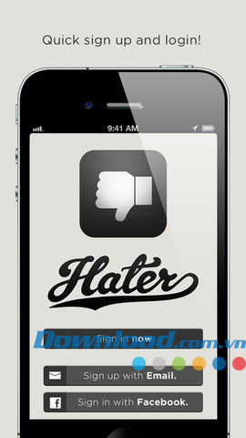 Hater App for iOS