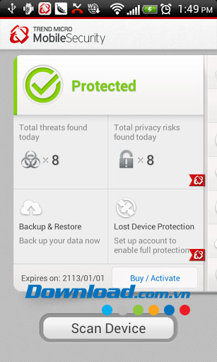 Mobile Security và chống virus for Android