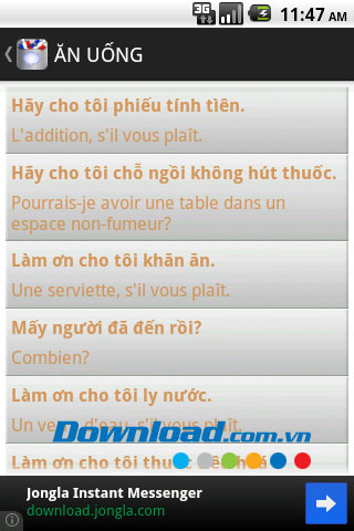 Tiếng Pháp giao tiếp for Android