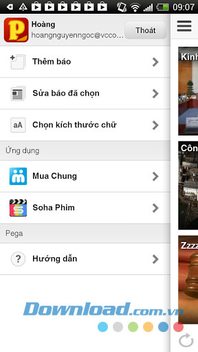 Đọc tin Pega for Android