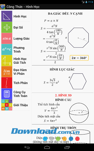Công thức toán for Android