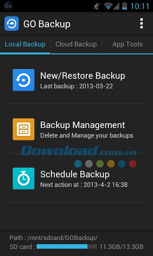 GO Backup & Restore Pro for Android