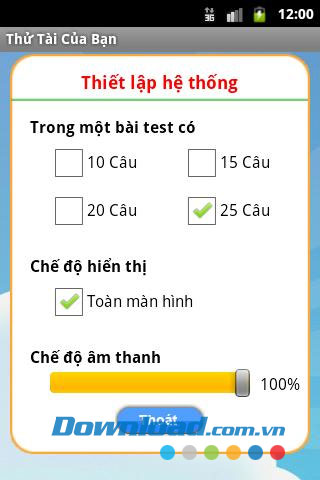 Thử tài của bạn for Android