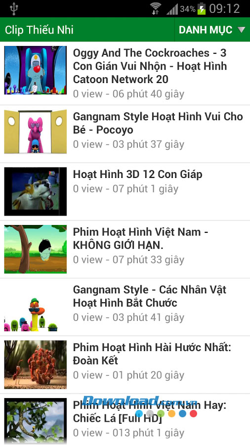 Clip thiếu nhi for Android