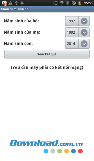 Chọn năm sinh bé for Android