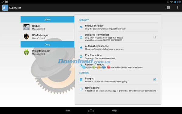 Superuser for Android