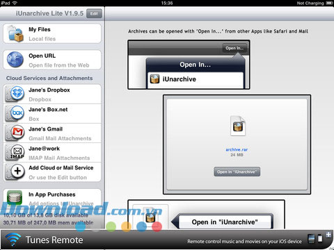 iUnarchive Lite for iOS