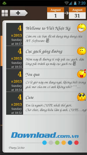 Viết nhật ký for Android