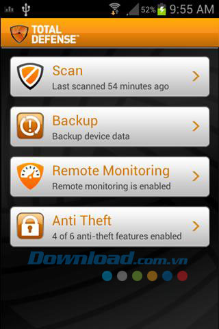 Total Defense Mobile Security for Android
