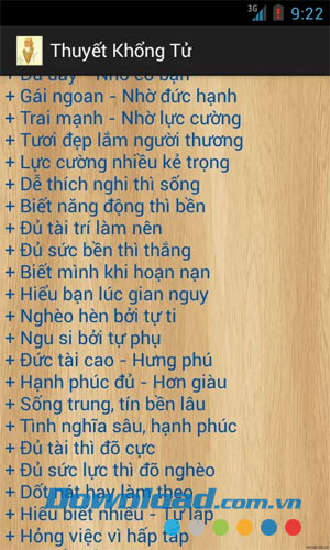 Thuyết Khổng Tử for Android