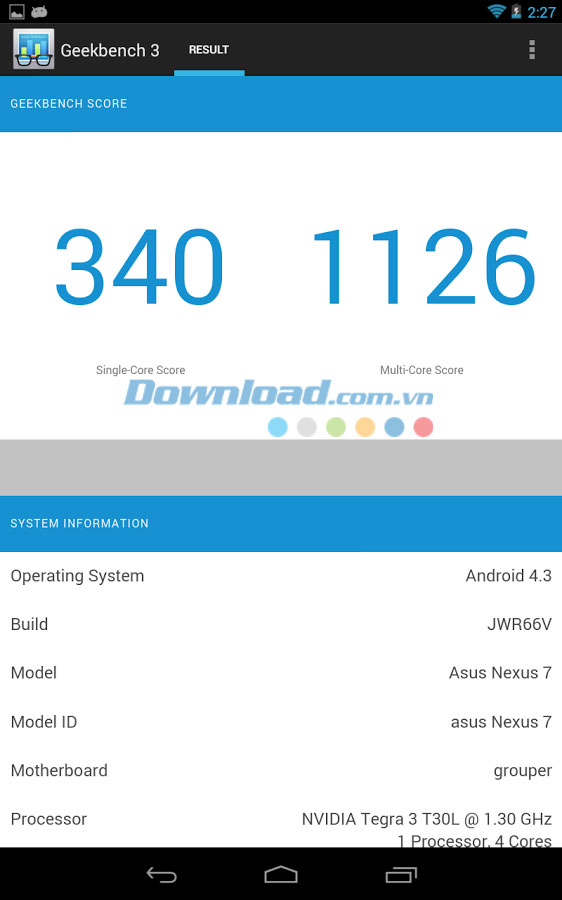Geekbench 3 for Android