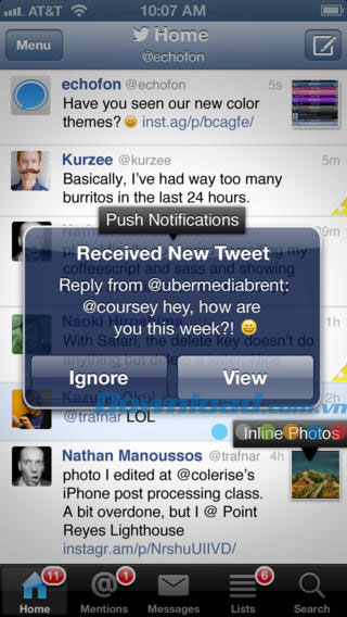 Echofon for Twitter for iOS