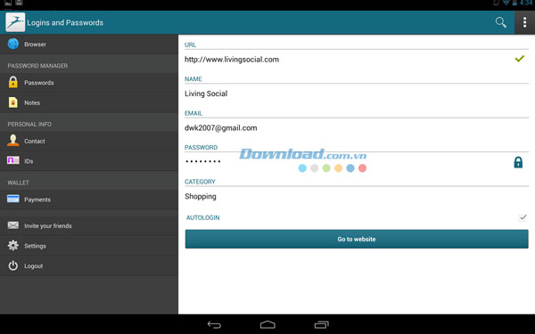 Dashlane Password Manager for Android