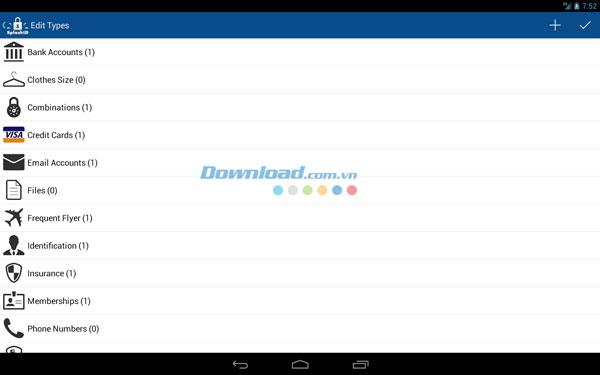SplashID Safe Password Manager for Android