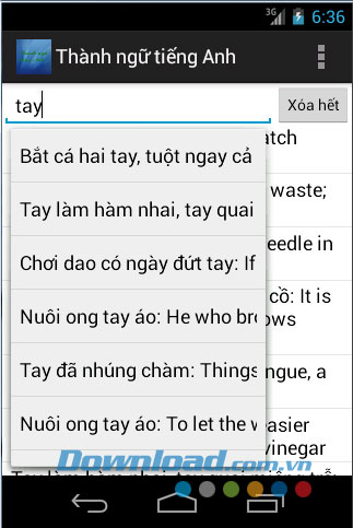 Thành ngữ tiếng Anh for Android