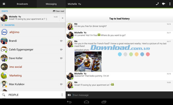imo instant messenger for Android
