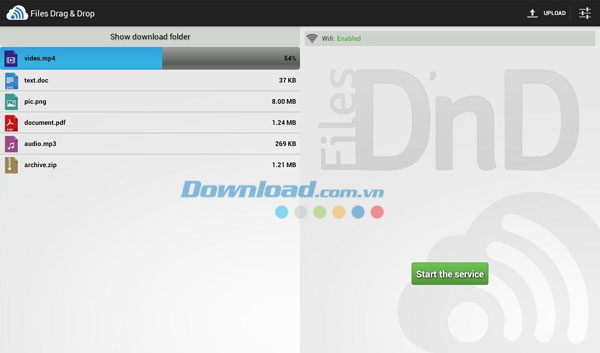 Files Drag & Drop for Android