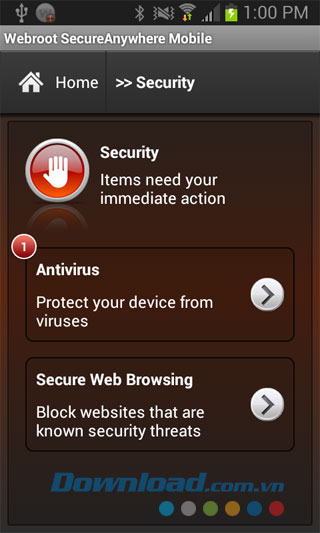Webroot Security & Antivirus for Android