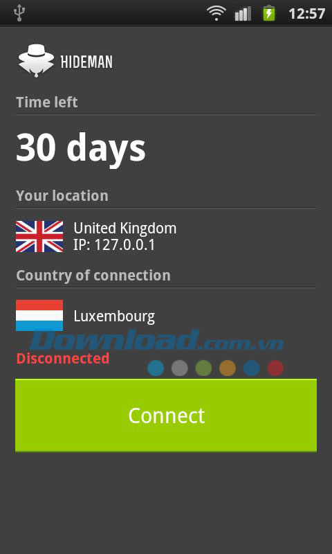 Hideman VPN for Android