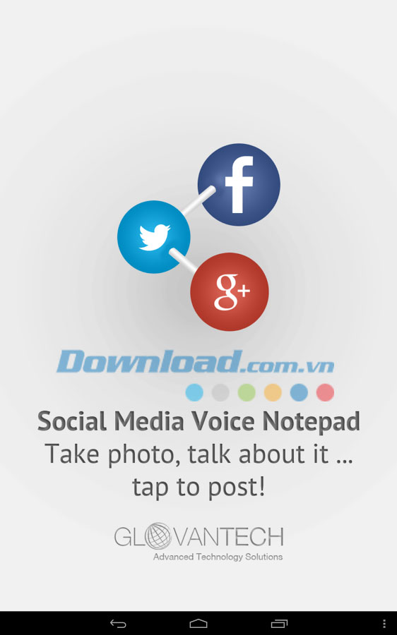 Social Media Voice Notepad for Android