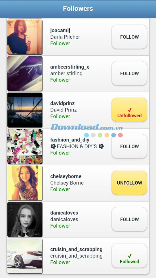 InstaFollow for Android