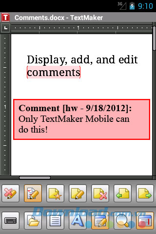 TextMaker Mobile for Android