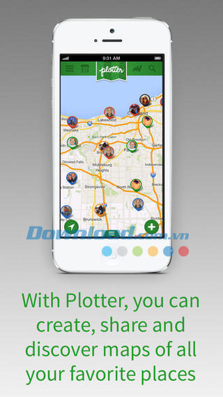 Plotter Social Maps for iOS
