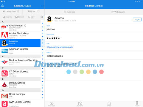 SplashID Safe Password Manager for iOS