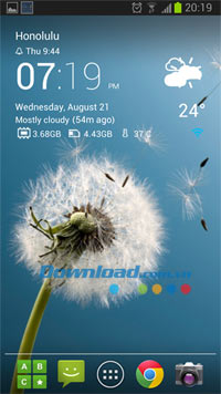 Transparent clock & world weather for Android