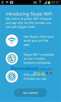 Skype WiFi cho Android