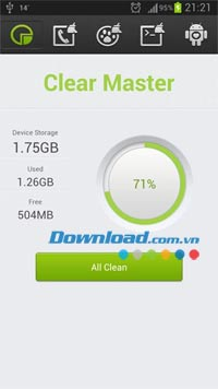 Clear Master cho Android