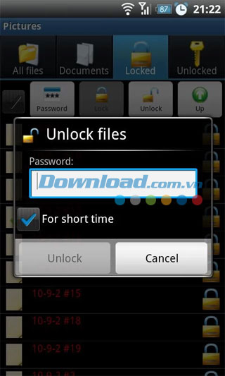 File Locker cho Android
